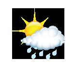 promjenjivo oblačno s povremenom kišom